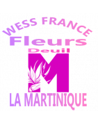 GERBES DE FLEURS DEUIL LA MARTINIQUE