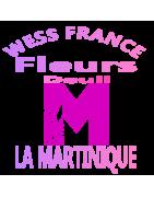 COUSSINS DE FLEURS DEUIL LA MARTINIQUE.