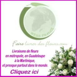 livraison fleurs france, martinique, Guadeloupe, international